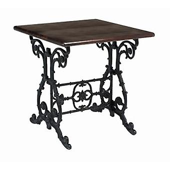 Cantra Cast Iron And Wood Table - Square