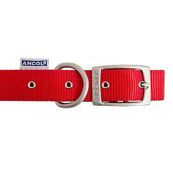 Heritage Nylon Collar Red 12mm X26-36cm