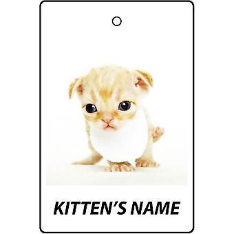 Personalised Devon Rex Kitten Car Air Freshener