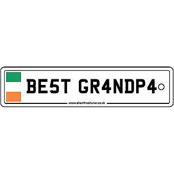 Ireland - Best Grandpa License Plate Car Air Freshener