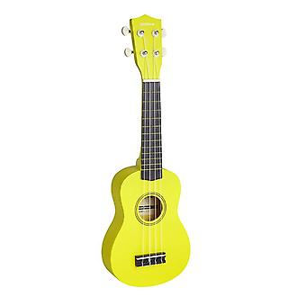 Groov-e Traditional Soprano Ukulele with Carry Case - Yellow