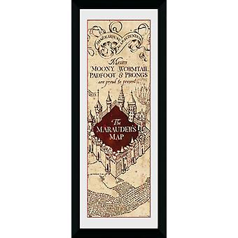 Harry Potter Marauders karta inramade Collector Print