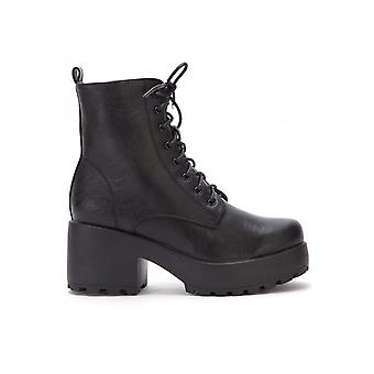 Attitude Clothing Thick Soled Lace Up Boot