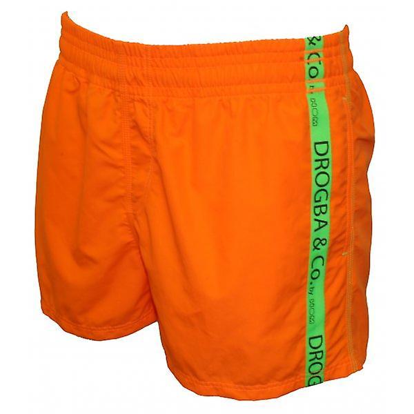 Drogba & Co. by HOM Beach Boxer Shorts, Orange