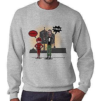 Season 2 Daredevil and Punisher Rick and Morty Men's Sweatshirt