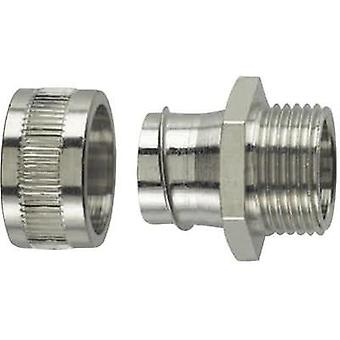 HellermannTyton 166-30305 SC25-FM-M25 HelaGuard Metallic Conduit Screw Fitting Nickel-plated brass 21.1 mm Metal