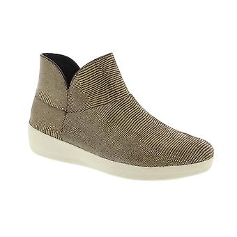 FitFlop Supermod Lizard Print Ankle Boot - Chocolate Brown (Suede) Womens Boots