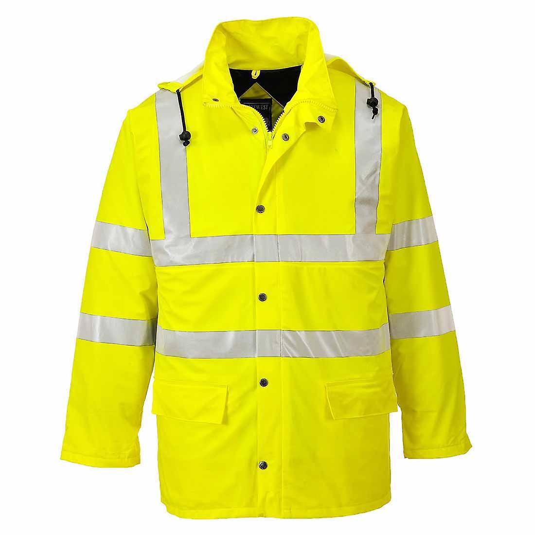 Portwest - Hi-Vis Safety Sealtex Ultra Lined Workwear Waterproof Hooded Jacket