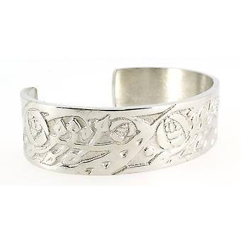 Handgemachte keltische Mackintosh Rose Silber Glanz Zinn Manschette Armband (einstellbar)