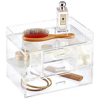 OnDisplay Venezia 5 cassetto Tiered trucco/gioielli Organizzatore acrilico