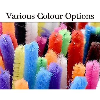 10 Extra Long & Thick Craft Chenille Pipe Cleaners - Choice of Colour