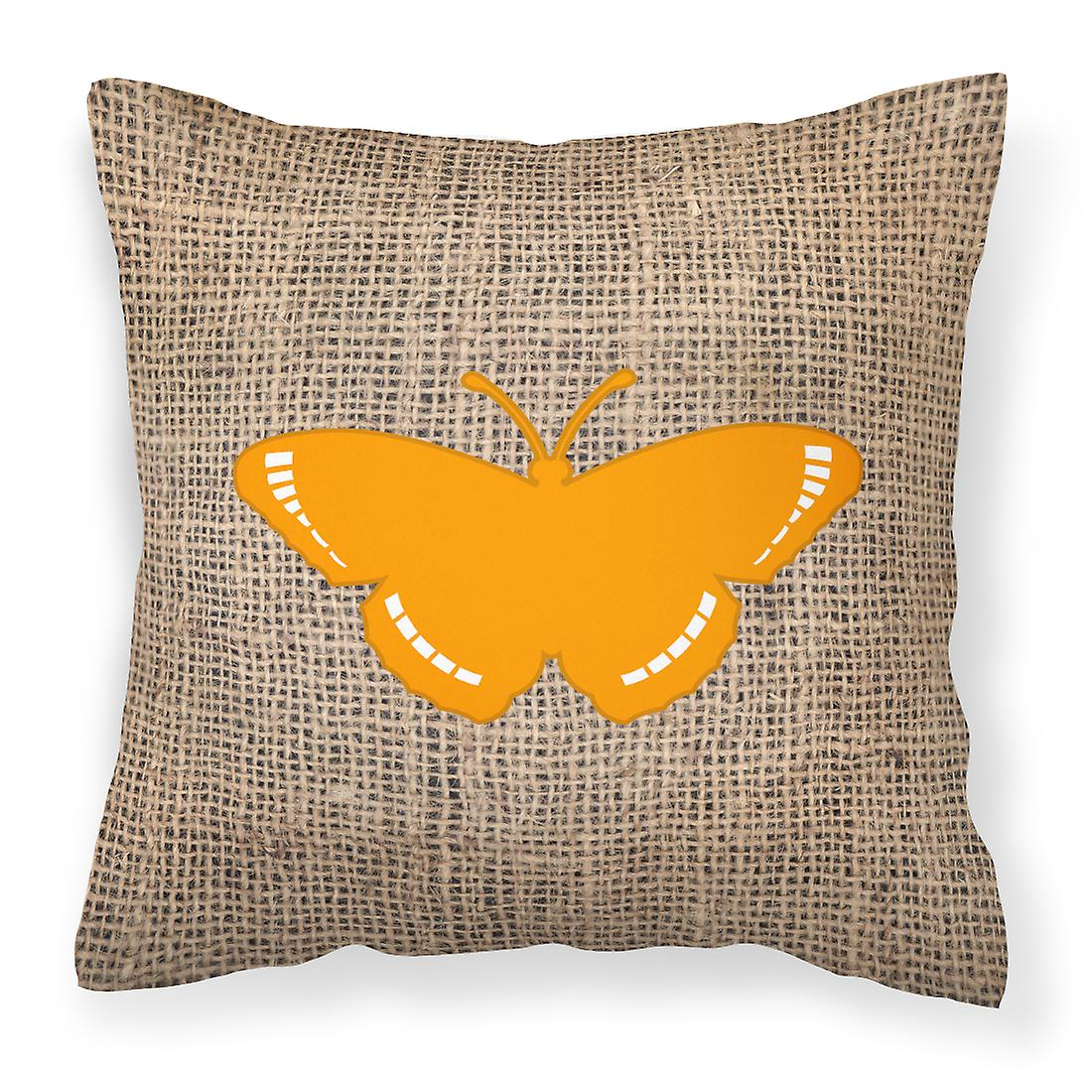 Oreiller Décoratif Jute Tissu Et Orange De Bb1038 Papillon Toile GUSzMVpq