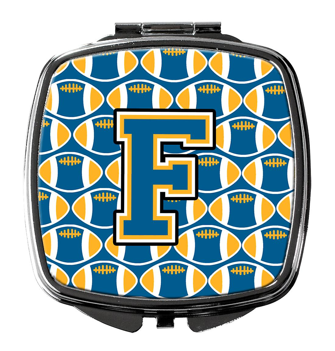 Bleu Compact Lettre Carolines Or fscm Et Miroir F Football Trésors Cj1077 OuTZPikX