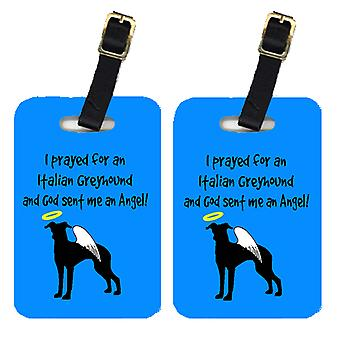 Carolines Treasures  AN1102BT Pair of 2 Italian Greyhound Luggage Tags