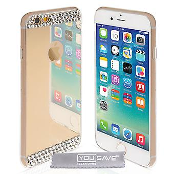 iPhone 6 And 6s Mirror Diamond Case - Champagne Gold