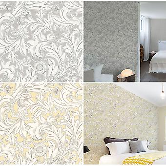Meadow Scroll Wallpaper Flowers Floral Paisley Modern Bold Luxury By Crown