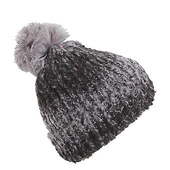 Womens/Ladies Knitted Winter Beanie Hat With Pom Pom