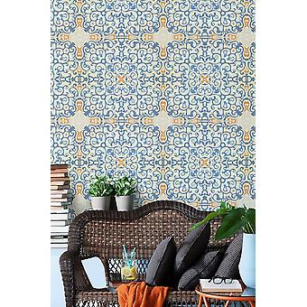Spanish Tile Wallpaper - 3 x rolls