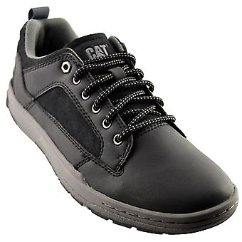 Mens New Caterpillar Lace Up Grip Sole Durable Black Trainers Shoes
