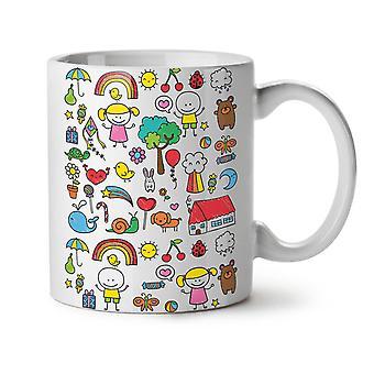 Cute Colorful NEW White Tea Coffee Ceramic Mug 11 oz | Wellcoda