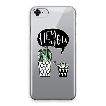 iPhone 8 Transparant Case - Hey du Kaktus