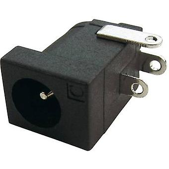 Low power connector Socket, horizontal mount 4 mm 2.1 mm