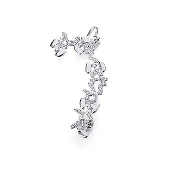 Loops ring Crystal Swarovski Elements white ears and Rhodium plate