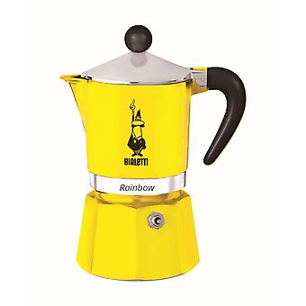 Bialetti Rainbow - Stove Top Espresso Coffee Maker - Yellow - Various Sizes