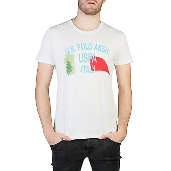 U.S. Polo Men T-shirts White
