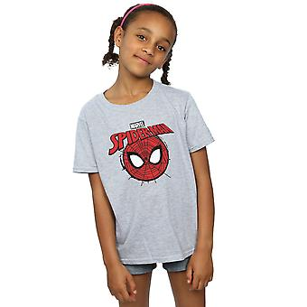 Marvel Girls Spider-Man Logo Head T-Shirt