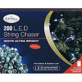 Indoor/Outdoor 200 Led Bulb Chaser Light - White/Clear Ultra Bright