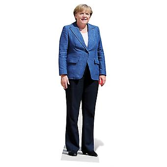 Life-sized papp åpning av Angela Merkel