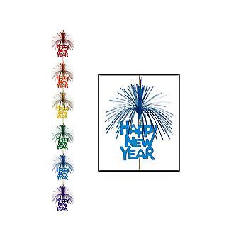 Godt nytår fyrværkeri Stringer dekoration - Multi farvede