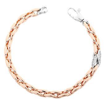 Orphelia Silver 925 Bracelet Rose Links Zirc  ZA-7159
