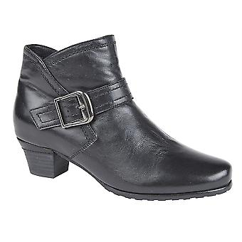 Ladies Womens New Soft Leather Inside Zip Low Heel Ankle Boots Shoes