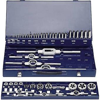 Tap tool kit 54-piece HSS Exact 10723 metric M3, M4, M5, M6, M8, M10, M12, M14, M16, M18, M20