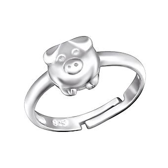 Pig - 925 Sterling Silver Rings - W28094x