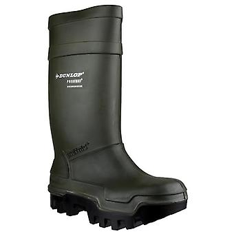Dunlop Purofort Thermo+ Safety Wellington Boot Green