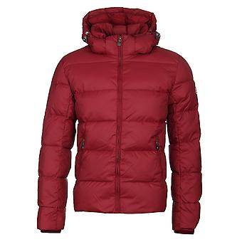 Pyrenex Spoutnic Cherry Red Hooded Down Jacket