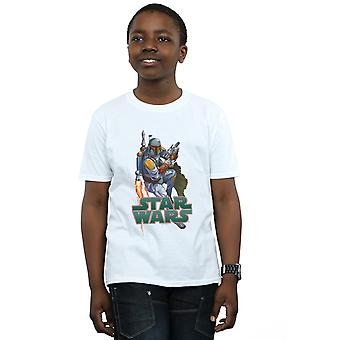 Star Wars Boys Boba Fett Fired Up T-Shirt