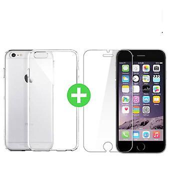 Stuff Certified ® iPhone 6S Plus Transparent TPU Case + Screen Protector Tempered Glass