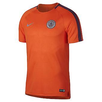 2018-2019 Man City Nike Pre-Match Trainingsshirt (Orange)
