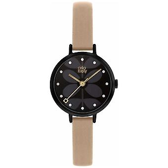 Orla Kiely | Ladies Ivy | Black Dial | Pink Leather Strap | OK2250 Watch