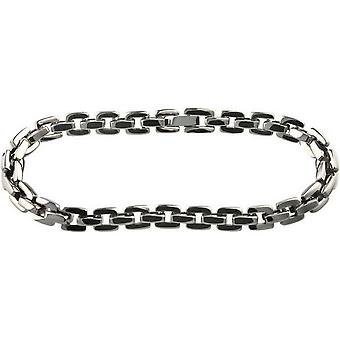 Ti2 Titanium vierkante Chain Bracelet - zilver gepolijst