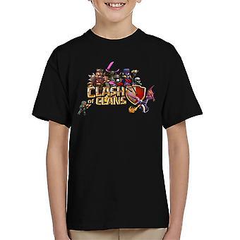 Choque de camiseta clanes personajes Logo infantil