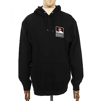 Edwin Jeans Sunset On Mt Fuji Hooded Sweatshirt - Black