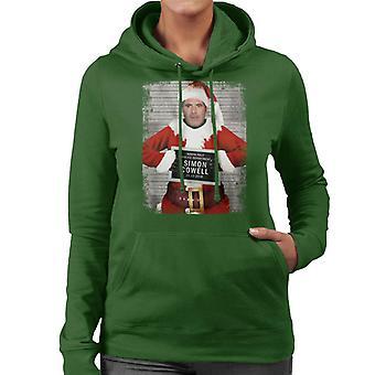 Weihnachten Mugshot Simon Cowell Damen Sweatshirt mit Kapuze