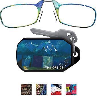ThinOptics Armless ultralette lesing briller med Designer nøkkelring sak
