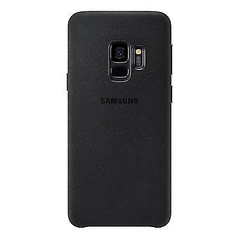 Samsung Galaxy S9 além de Alcantara tampa-preto