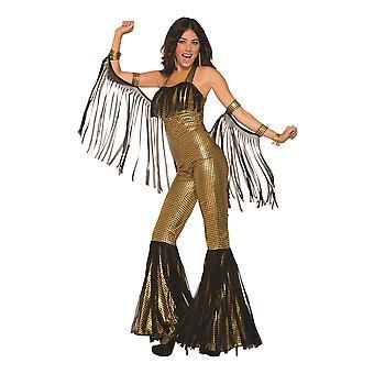 Disco Queen kjeledress gull